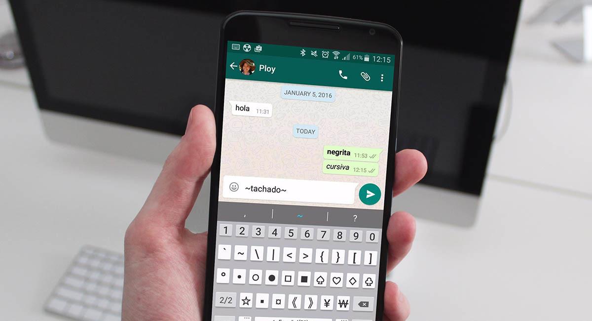 Cursiva tachado o negritas en whatsapp tutorial android for Como se escribe beta