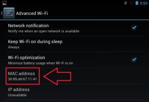 Conocer y cambiar la MAC de Android