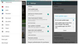 Detener las actualizaciones automáticas de Play Store