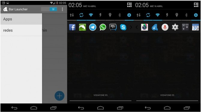 Poner aplicaciones en la barra de notificaciones