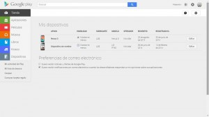 Eliminar dispositivos de Google Play
