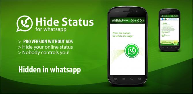 Hide Status WhatsApp