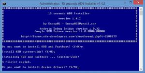 instalar los controladores ADB en Windows