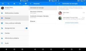 Ver mensajes filtrados y ocultos en Facebook Messenger para Android