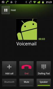 Como eliminar el icono de mensaje de voz en Android