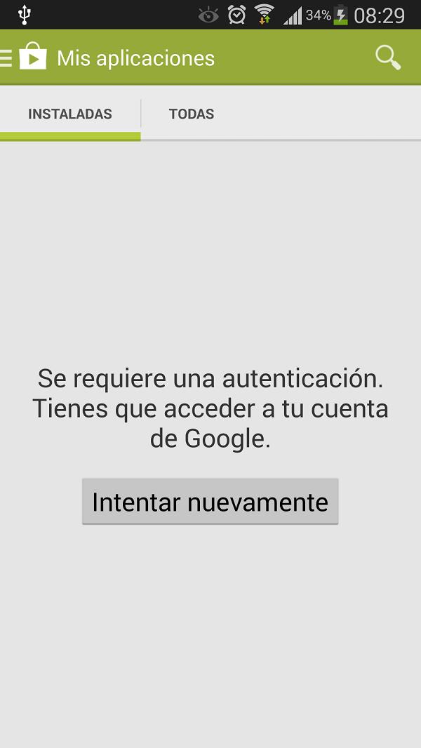 Solucionar el error de «Se requiere una autenticación. Tiene que acceder a tu cuenta de google»