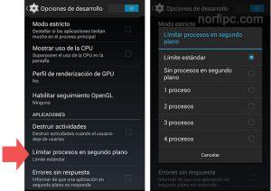 detener la ejecución de aplicaciones en segundo plano en Android.