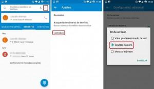 Convierte tu número en privado en Android
