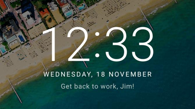 Agregar un mensaje en la pantalla de bloqueo en Android 6.0