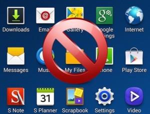 desactivar y bloquear las aplicaciones bloatware en Android