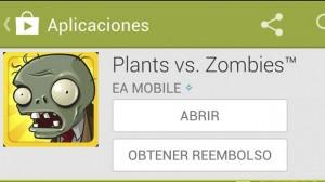 Pedir un reembolso en Google Play