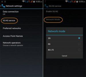 Configurar la red 4G / 3G / 2G en tu Android