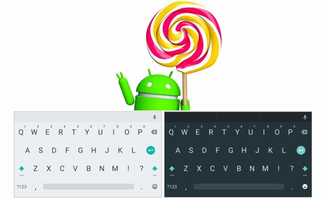 Android L, Teclado Android L